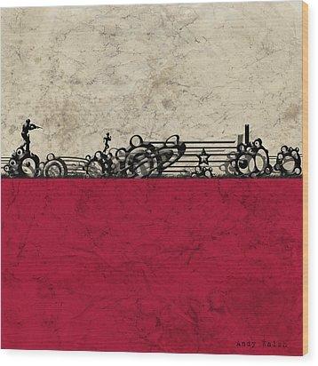 Run Wood Print by Andy Walsh