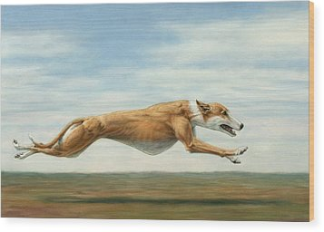 Running Free Wood Print by James W Johnson