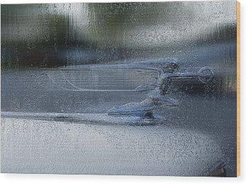 Running In The Rain Wood Print by Jack Zulli