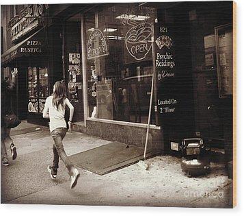Running Wood Print by Miriam Danar