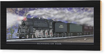 Running On Time Wood Print by Mike McGlothlen