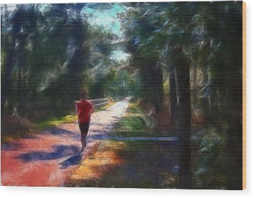 Running Wood Print by William Sargent
