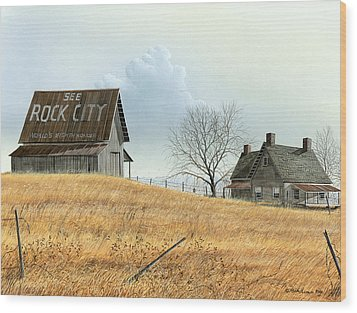 Wood Print featuring the painting Rural America by Mike Brown
