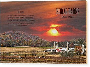 Wood Print featuring the photograph Rural Barns  My Book Cover by Randall Branham