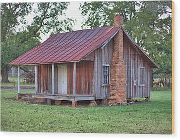 Wood Print featuring the photograph Rural Georgia Cabin by Gordon Elwell
