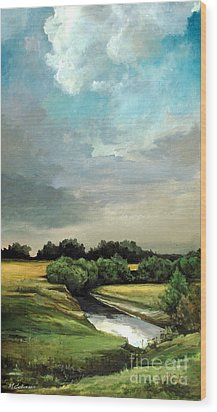 Rural Landscape Wood Print