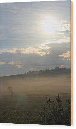 Rural Morning Wood Print by Angie Phillips