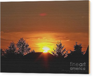Wood Print featuring the photograph Rural Sunset by Gena Weiser