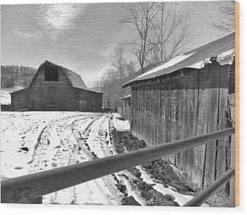 Rural Winter Wood Print