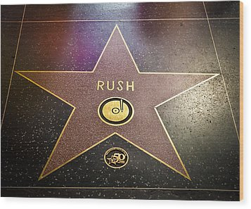 Rush Has A Star Wood Print by April Reppucci