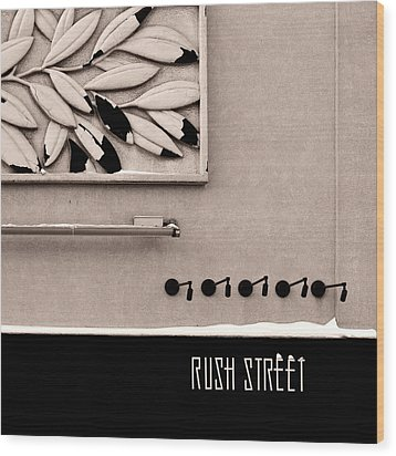 Wood Print featuring the photograph Rush Street by James Howe