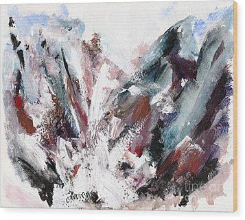 Rushing Down The Cliff Wood Print by Lidija Ivanek - SiLa
