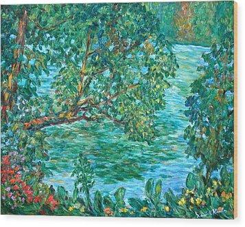 Rushing Water Wood Print by Kendall Kessler