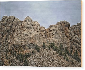 Rushmore Wood Print by Tricia Marchlik