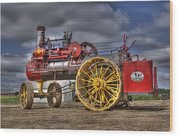 Russell Steam Wood Print by Shelly Gunderson