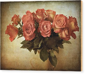 Russet Rose Wood Print by Jessica Jenney