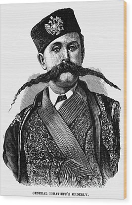 Russia: Military Orderly Wood Print by Granger