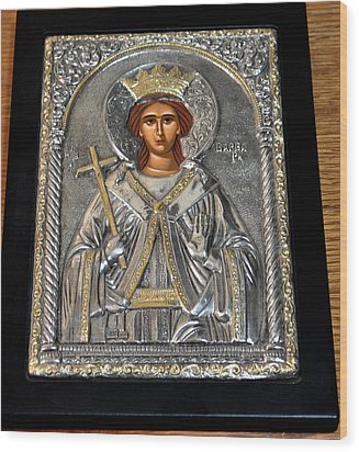 Russian Byzantin Icon Wood Print