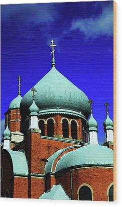 Russian Orthodox Church Wood Print by Karol Livote