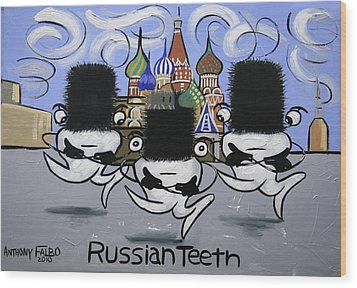 Russian Tooth Wood Print by Anthony Falbo
