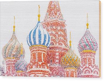 Russian Winter Wood Print