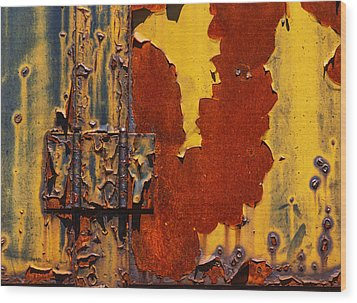 Rust Abstract Wood Print by Jack Zulli