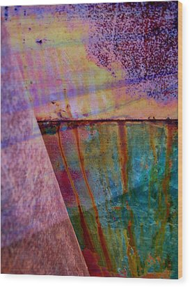 Rust And Paint Wood Print by Shirley Sirois