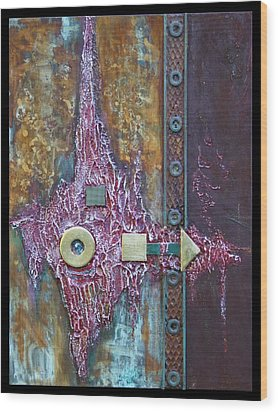 Rust-art Wood Print by Gertrude Scheffler