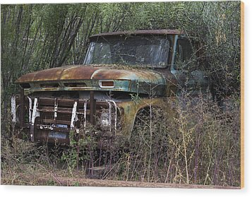 Rust Bucket Wood Print
