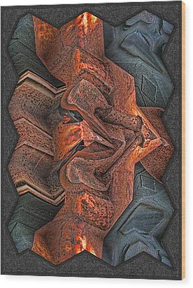 Rust Flow Wood Print by Wendy J St Christopher