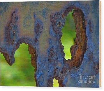 Rust In Peace Wood Print