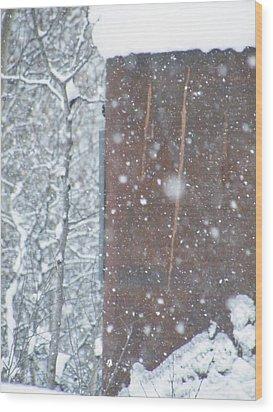 Rust Not Sleeping In The Snow Wood Print