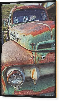 Rust Or Bust Wood Print by Justin  Curry