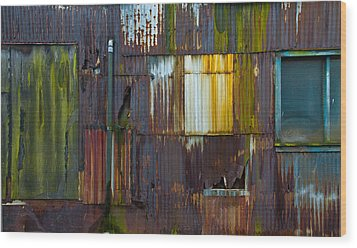 Rust Rainbow Wood Print by Sarah Crites