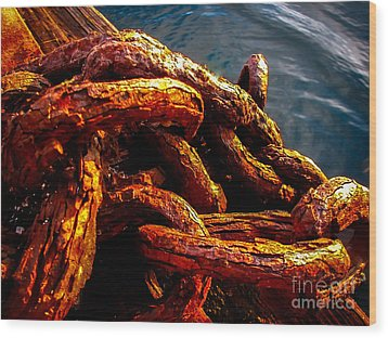 Rust Wood Print by Robert Bales