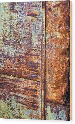 Rust Rules Wood Print by Steve Harrington