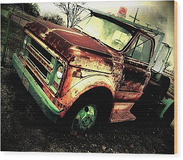 Rusted And Busted Wood Print by Denisse Del Mar Guevara