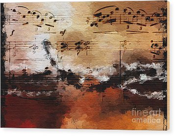 Wood Print featuring the digital art Rusted Desert Harmony by Lon Chaffin