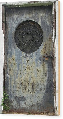 Rusted Door Wood Print by Melissa Stoudt
