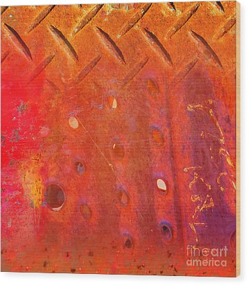 Rusted Glory 10 Wood Print by Desiree Paquette