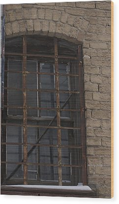 Rusted Grid Wood Print by Mandy Bird