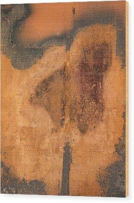 Rusted Metal Abstract Wood Print by Ben Kotyuk
