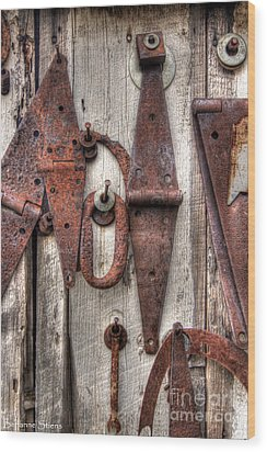 Rusted Past Wood Print by Benanne Stiens