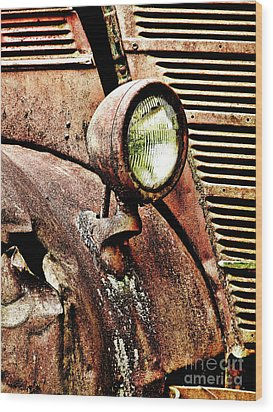 Rusted Wood Print by Ron Roberts