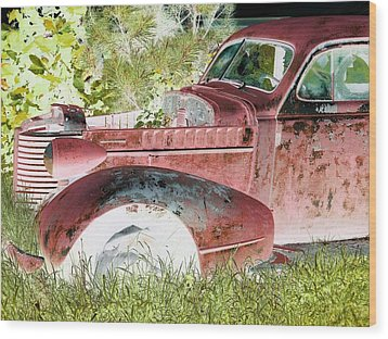 Rusted Truck 4 Wood Print by Dietrich ralph  Katz