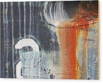Rusted Waterfall Wood Print by Jani Freimann