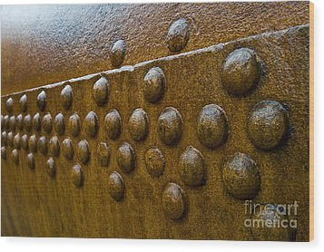 Rusted Whaling Machinery Wood Print by John Shaw