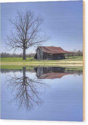 Rustic Barn Wood Print by David Troxel