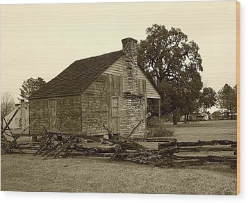Rustic Building Wood Print