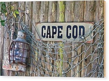 Rustic Cape Cod Wood Print by Bill Wakeley